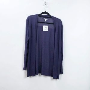 Croft & Barrow Purple Open Front Cardigan Sweater